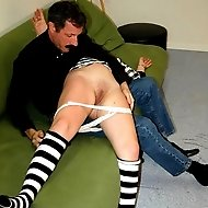 Filthy young bitch taken OTK for a harsh punishment