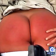 The headmaster pulls down Kelly`s panties and gives her a spanking she won`t forget