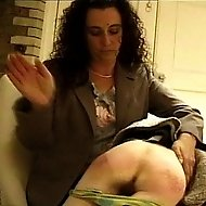 The boss spanks his secretaries wide ass after she fucks up