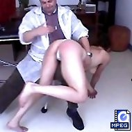 Young girl is spanked and humiliated by the doctor