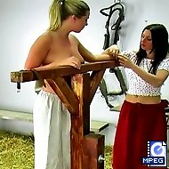 Kelly and the headmistress get topless for this thrilling whipping session