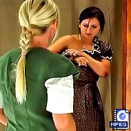 Salome has been caught cheating and is brought into the headmistress` office for her punishment